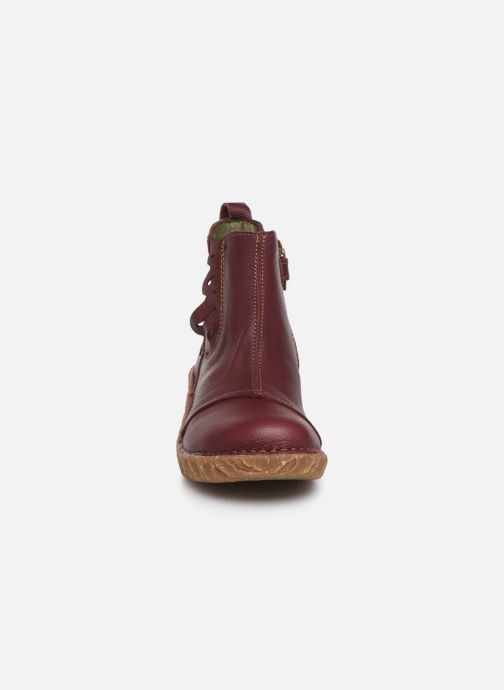 Ankle boots El Naturalista Yggdrasil 5E-124 Burgundy model view